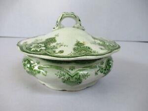 "1890 Elysee J&G Meakin Antique Covered Vegetable Bowl Pot Serving bowl Transfe""F"