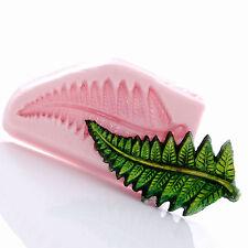 Fern Leaf Silicone Mold Resin Polymer Clay Metal Clay Fondant Mint Candy (747)