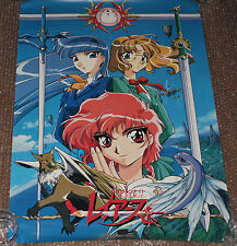 ULTRA RARE Magic Knight Rayearth Anime Promo Poster Japan CLAMP Japan Video