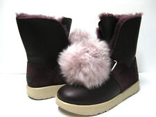 UGG ISLEY WATERPROOF WOMEN SHORT BOOTS LEATHER PORT US 8 /UK 6.5 /EU 39 /JP 25