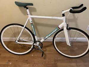 Bianchi Pista Sei Giorni Steel White Italy Colors 57cm Fixed Gear Track Bike