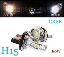 2x H15 LED XENON BRIGHT WHITE CREE DRL DAYTIME RUNNING LIGHT BULBS 80W BMW AUDI