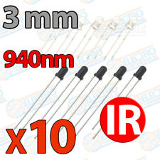 10x LED IR 5 emisor + 5 receptor 3mm infrarrojo infrared diode 940nm