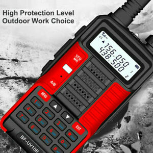 UK Stock 2021 RED BAOFENG UV-10RPlus 5,10-15W 4500-10000mah Dual Band Radio