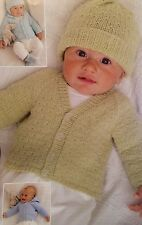 Baby Cardigan, Hats, Mittens & Booties Prem - 12 Months Kniting Pattern