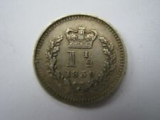 More details for 1839 silver threehalfpence vf