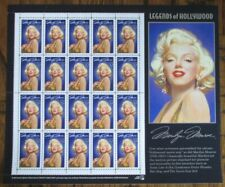PANE OF 20 MARILYN MONROE LEGENDS OF HOLLYWOOD 32 CENTS STAMPS - MINT