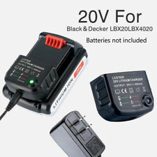 20V Lithium Battery Charger LCS1620 for Black & Decker LBXR20,LB2X3020-OPE, LB20