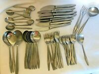 49 PIECES USED MCM REPLACEMENT FLATWARE AUERHAHN ULTRASIL SPOONS FORKS KNIVES