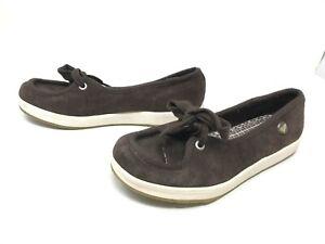Womens Roxy (P457E76PK) Presidio Brown Slip on Shoes 416C