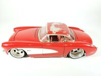 Jada 1:24 Big Time Muscle 1957 Chevrolet Corvette Red Diecast Model Car