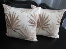 Gorgeous Nettex Sand MAUI Embroidered Floral Cushion Cover CLEARANCE SALE