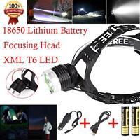 5000LM CREE XM-L XML T6 LED Rechargeable Headlamp Headlight Head Torch USB 18650
