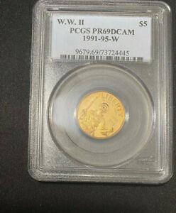 1991-95 W $5 GOLD PCGS PR69 D-CAM WORLD WAR II