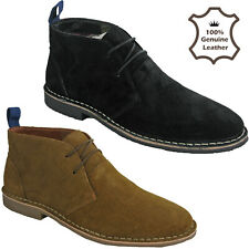 DESERT SUEDE BOOTS 2 EYE LEATHER CLASSIC ANKLE SOFT MENS ROUND TOE UK 7-12