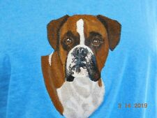 NEW BOXER HEAD VIEW EMBROIDERED  T-SHIRT ADD NAME FOR FREE