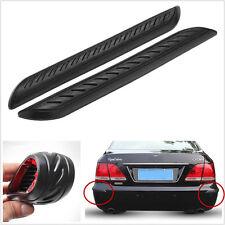 2 Pcs Soft Rubber Car Bumper Corner Angle Protector Door Guard Cover Crash Bars