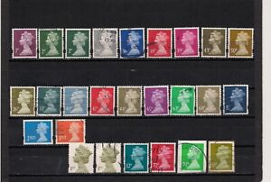 Great Britain QEII Syncopated 26 Stamps MH200/MH409 Used or Mint