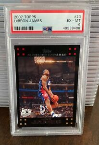 2007-08 Topps 50th Anniversary #23 Lebron James PSA 6 Cleveland Cavaliers Lakers