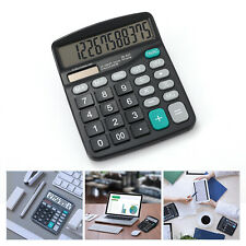 12 Digit Desktop Calculator Solar Battery Big Button Large Display Home Office
