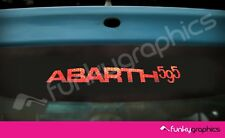 FIAT 500 ABARTH 595 CURVED LOGO 3rd BRAKE LIGHT DECAL STICKER GRAPHICx1 IN BLACK