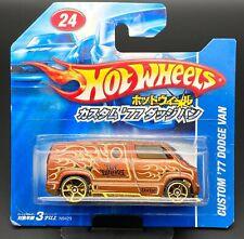 """Hot Wheels Japanese Short Card Custom """"77 Dodge Van"""