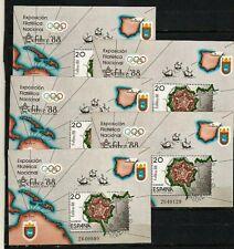 1988-ESPAÑA 5 HB EXFILNA 88, Pamplona, 25 junio Edifil 2956 MNH**