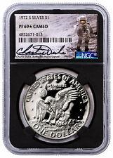 1972-S Silver Eisenhower Dollar NGC PF69* Cameo Charlie Duke Signed