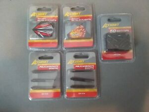 Lot of 5 ACCUDART - Metallic Dart Flights, Polycarbonate Shafts, Soft Tips - NEW