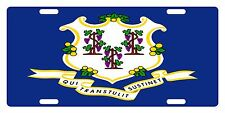 Connecticut State Flag  Custom License Plate State Emblem Original Version