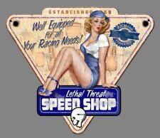 PIN UP GARAGE VINTAGE USA HOT ROD  CUSTOM AUTOCOLLANT STICKER AUTO MOTO 10CM