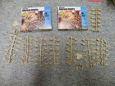 Airfix MPC 1/72  WW1 American Infantry  1982 USA issue set -2 boxes