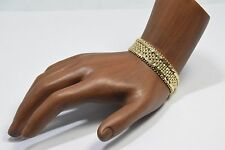 Women's 14k Solid Yellow Gold 12.0 mm Wide Woven Bracelet Statement Piece