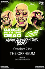 """DANCE WITH THE DEAD/GOST """"NORTH AMERICAN TOUR 2017"""" TAMPA, FL CONCERT POSTER"""