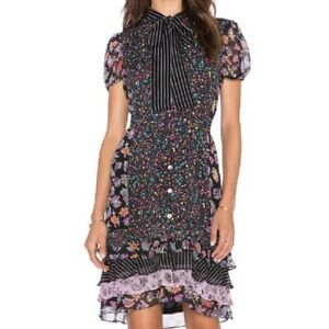6 8 NWT $498 DIANE VON FURSTENBERG GYPSY CONFETTI FLEUR SILK DRESS