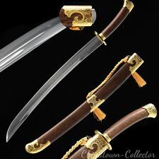 Hand Forged Qing Dao Yanling sword waist knife Carbon Steel blade sharp 雁翎刀#T034