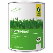 (10,53 EUR/100 g) Raab Vitalfood Gerstengras Pulver vegan bio 75 g Dose