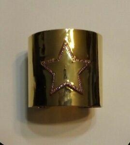 """Colleen Lopez """"Wonder Woman"""" gemstone star cuff bracelet"""