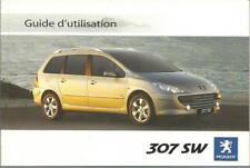 PEUGEOT 307 SW   Guide d´utilisation 2006 Manuel du Conducteur Handbuch BA