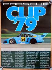 """orginal Porsche Plakat Poster """"Porsche Cup"""" 1979 Ludwig Kremer Porsche 935 Turbo"""