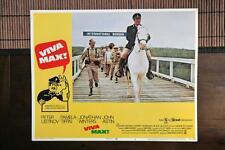 VIVA MAX Original MEXICAN WAR HORSE Lobby Card PETER USTINOV JOHN ASTIN