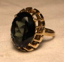 Antique Vintage Art Deco Retro 8K Gold Green Tourmaline Ring Size 8.5