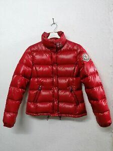 Giubbino donna bomber MONCLER jacket t.3(46) piuminino ROSSO in OTTIMO STATO!