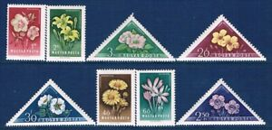 HUNGARY, SCOTT, MNH 1195-02, HUNGARIAN FLOWERS,1958