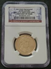 2007 P John Adams Presidential Dollar Coin NGC Certified First Day of Issue BU