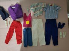 Barbie & Ken:  Vintage Lot of 12 Loose  Fashions / Clothes for Ken Plus Shoes