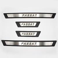 4 teilig chrom schwarz Einstiegsleisten aus Edelstahl für VW Passat B8 ab 2015