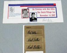 Bob Feller, Signed Four (4) Items, Cleveland Indians