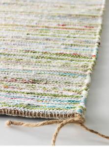Handgeknüpfter Teppich 60 x 90cm 100% Baumwolle nachhaltig Handarbeit UNIKAT