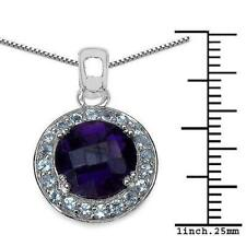 Blue Natural Amethyst Fine Necklaces & Pendants
